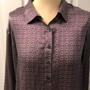 CAbi long sleeve blouse 100% silk.